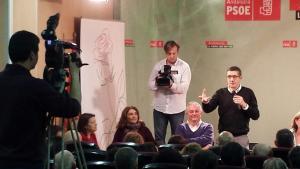 Patxi López durante su intervención.