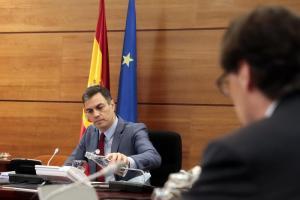 Pedro Sánchez en el Consejo de Ministros de este martes.