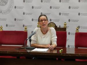 Pilar Rivas, actual portavoz del grupo municipal Vamos, Granada.