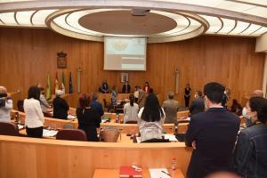 Imagen del inicio de la sesión del pleno de la Diputación de Granada.
