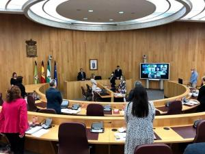 Minuto de silencio al inicio del pleno de la Diputación.