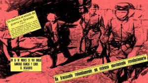Composición a partir de la imagen de un detenido en Asturias del Archivo Histórico del PCE.