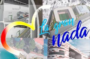 Recreaciones de proyectos del PP con el logo retocado de la 'gran Granada'.