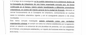 Uno de los documentos policciales del sumario del caso Nazarí.