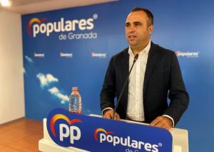 Francisco Rodríguez, presidente provincial del PP, en rueda de prensa.