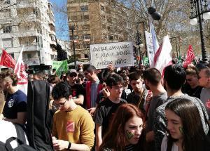 Manifestación del pasado 4 de marzo contra el decreto de escolarización.
