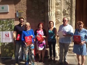 Candidatos y cargos del PSOE, a las puertas del Arqueológico.
