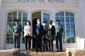 María Gámez durante su visita a la Autoridad Portuaria.