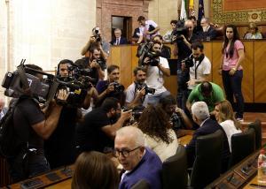 Susana Díaz, en el Parlamento.