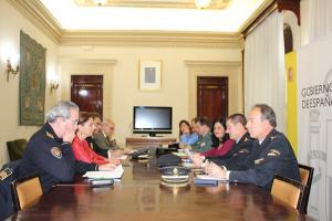 Reunión de coordinación de seguridad celebrada este martes.