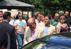 Juan Carlos I, en una de sus últimas visitas privadas a Granada, en mayo de 2016.