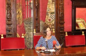 Rocío Díaz en una rueda de prensa.