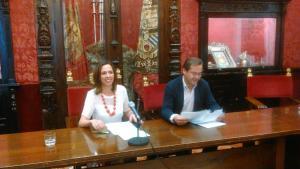 Rocío Díaz y Antonio Granados, este miércoles.