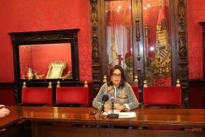 María Francés en rueda de prensa.