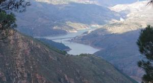 Presa de Rules desde la Sierra de Lújar.