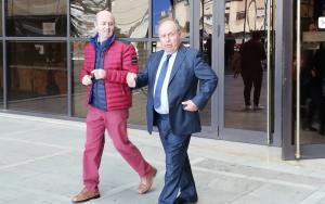 José Torres Hurtado a la salida de La Caleta tras declarar en el juicio del caso Serrallo.