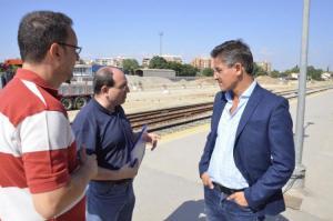 Salvador, en una visita el pasado verano a las obras de la estación.