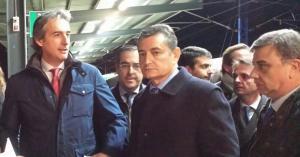 Antonio Sanz junto al ministro de Fomento en su visita a Antequera.