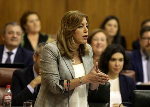 Susana Díaz, en la sesión de control al Gobierno.