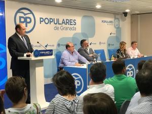 Sebastián Pérez, en la junta directiva provincial celebrada esta tarde.