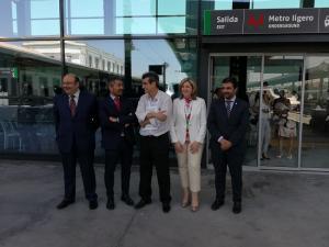 Sebastián Pérez ha reaparecido en un acto público en la inauguración del AVE.