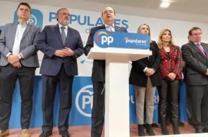 Sebastián Pérez durante la comparecencia de este miércoles.