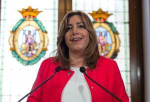 Susana Díaz, este miércoles en Cádiz.