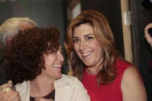 Pilar Aranda con Susana Díaz en un acto en Granada.