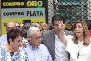 Susana Díaz durante su visita al Zaidín.