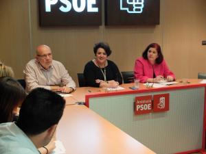 Teresa Jiménez preside la comisión ejecutiva del PSOE.