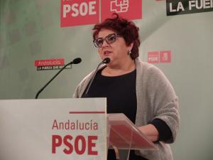 Teresa Jiménez en rueda de prensa.