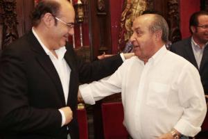 Sebastián Pérez y Torres Hurtado cuando gobernaban el Ayuntamiento.
