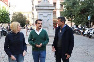 Candidatos de UP, en la Plaza de la Universidad.