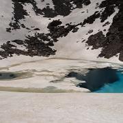 Laguna Altera, con bellos colores turquesa del deshielo
