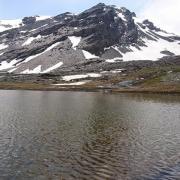 Laguna Culo de Perro y al fondo del Mulhacén