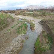 Vista de la desembocadura en el Genil desde el último puente sobre el río Dílar.