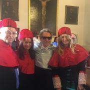 Con los profesores Antonio Jiménez-Blanco, Ana Olmedo y Pilar Bensusan.